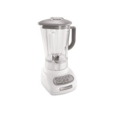 KitchenAid KSB560WH Residential Blender w/ Touch Pad, 56-oz Pitcher & 5-Speeds, White