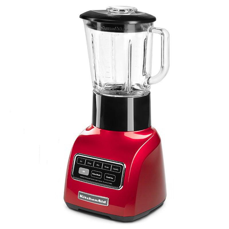 Kitchenaid KSB755CA 5-Speed Blender w/ 48-oz Glass Pitcher & Accessory Jar, Apple Red