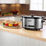 KitchenAid KSC6223SS 6-qt Slow Cooker w/ Standard Lid, Stainless