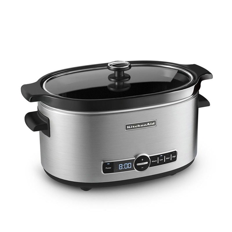 KitchenAid KSC6223SS 6-qt Slow Cooker w/ Standard Lid, Stainless