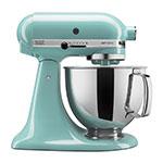 KitchenAid KSM150PSAQ 10-Speed Stand Mixer w/ 5-qt Stainless Bowl & Accessories, Aqua Sky