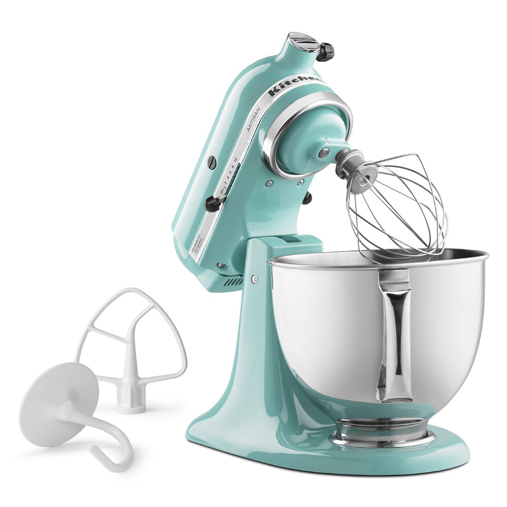 KitchenAid KSM150PSAQ 5-qt Artisan Series Mixer w/ Attachments, Aqua Sky