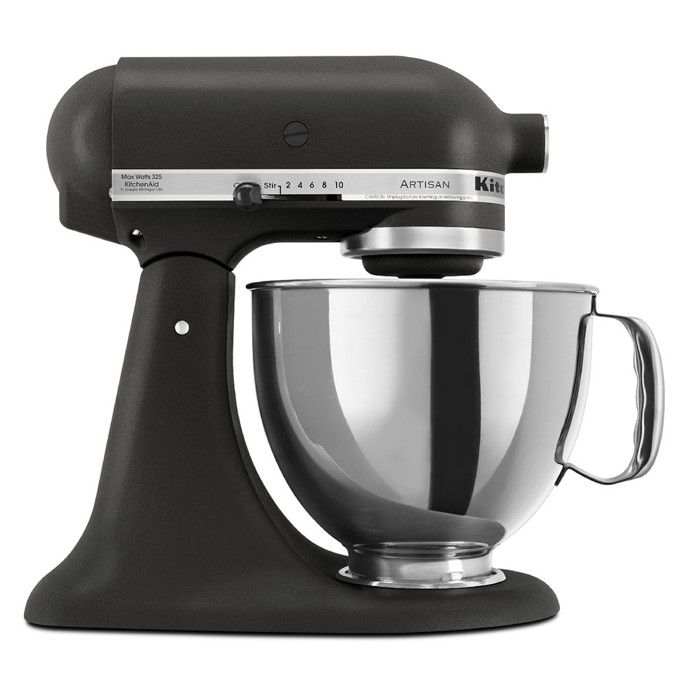 KitchenAid KSM150PSBK 10-Speed Stand Mixer w/ 5-qt Stainless Bowl & Accessories, Imperial Black