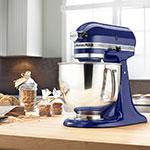 KitchenAid KSM150PSBU 10-Speed Stand Mixer w/ 5-qt Stainless Bowl & Accessories, Cobalt Blue