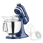 KitchenAid KSM150PSBW 10-Speed Stand Mixer w/ 5-qt Stainless Bowl & Accessories, Blue Willow