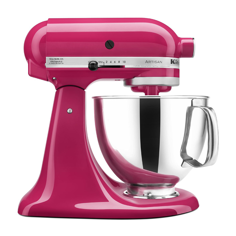 KitchenAid KSM150PSCB 10-Speed Stand Mixer w/ 5-qt Stainless Bowl & Accessories, Cranberry