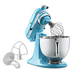 KitchenAid KSM150PSCL Artisan Series 5-Quart Mixer, 10 Speed, Crystal Blue