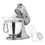 Kitchenaid KSM150PSCU 5-qt Artisan Series Mixer w/ Attachments, Contour Silver