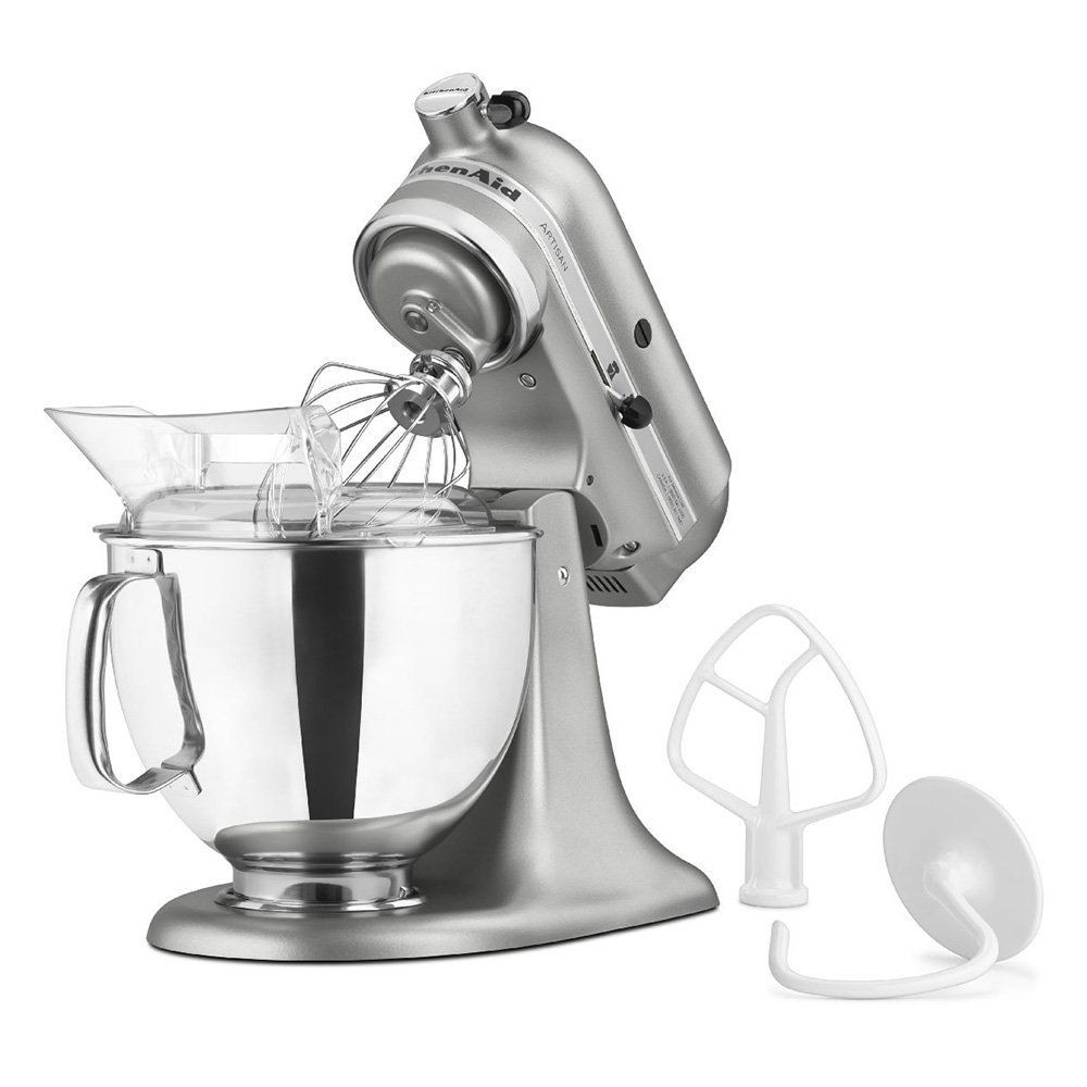 KitchenAid KSM150PSCU 10-Speed Stand Mixer w/ 5-qt Stainless Bowl & Accessories, Contour Silver