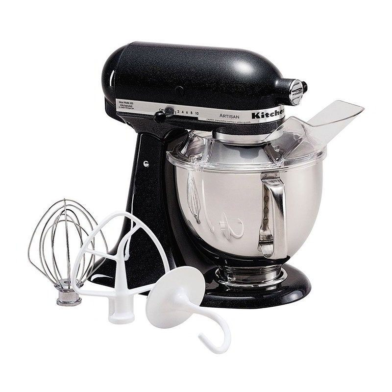 KitchenAid KSM150PSCV 10-Speed Stand Mixer w/ 5-qt Stainless Bowl & Accessories, Caviar