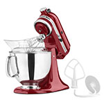 KitchenAid KSM150PSER Artisan Series 5-Quart Mixer, 10 Speed, Empire Red