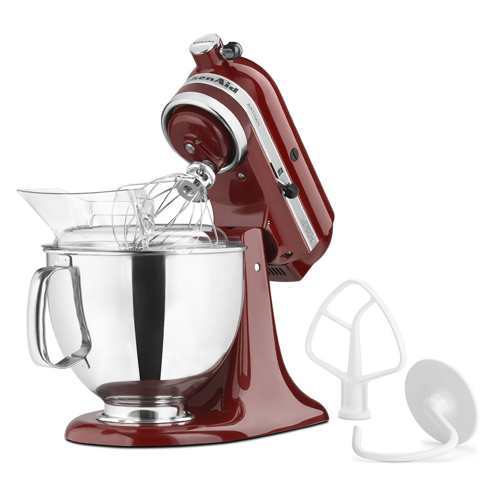 KitchenAid KSM150PSGC 10-Speed Stand Mixer w/ 5-qt Stainless Bowl & Accessories, Gloss Cinnamon