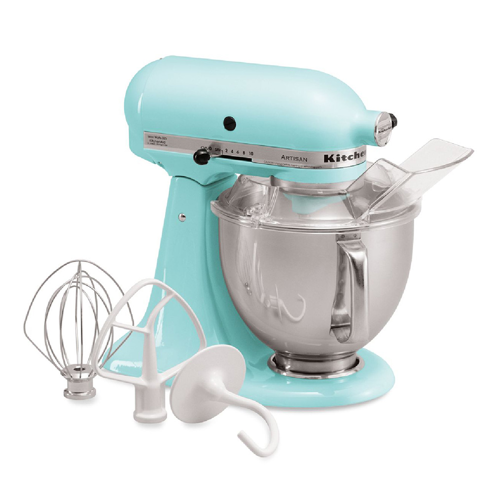 KitchenAid KSM150PSIC 10-Speed Stand Mixer w/ 5-qt Stainless Bowl & Accessories, Ice