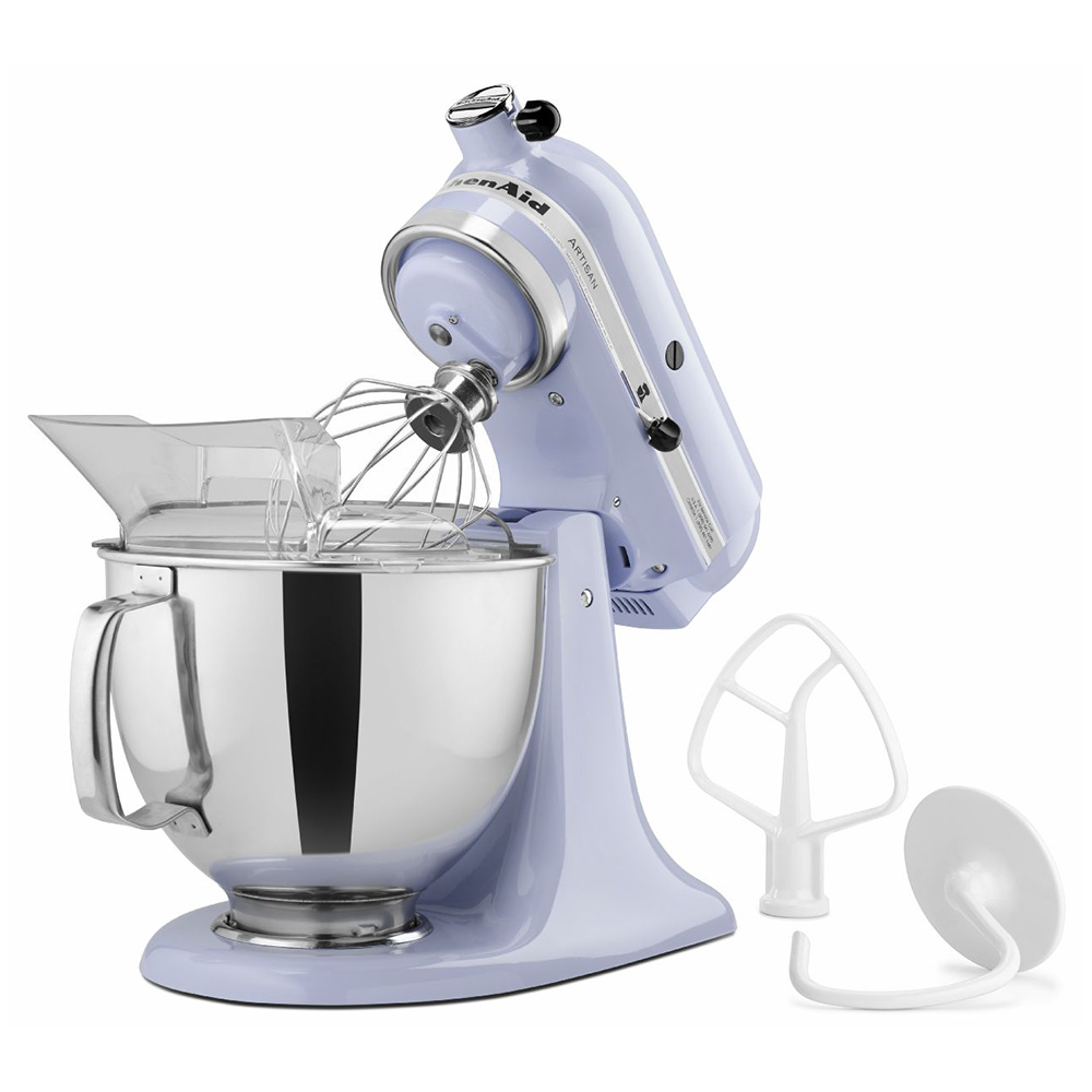 KitchenAid KSM150PSLR 10-Speed Stand Mixer w/ 5-qt Stainless Bowl & Accessories, Lavender Cream, 120v