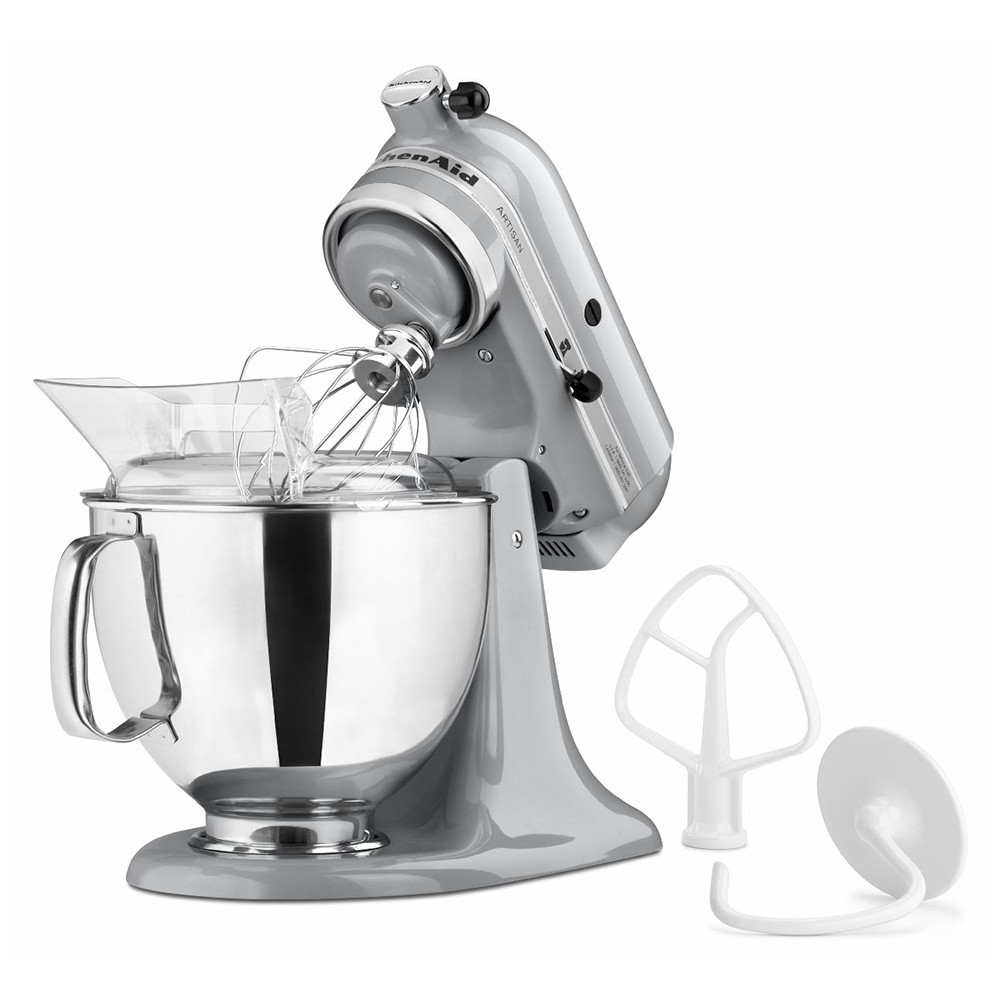 KitchenAid KSM150PSMC 10-Speed Stand Mixer w/ 5-qt Stainless Bowl & Accessories, Metallic Chrome