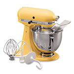 KitchenAid KSM150PSMY 10-Speed Stand Mixer w/ 5-qt Stainless Bowl & Accessories, Majestic Yellow