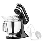 KitchenAid KSM150PSOB 10-Speed Stand Mixer w/ 5-qt Stainless Bowl & Accessories, Onyx Black