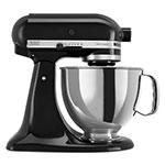 KitchenAid KSM150PSOB 10-Speed Stand Mixer w/ 5-qt Stainless Bowl & Accessories, Onyx Black
