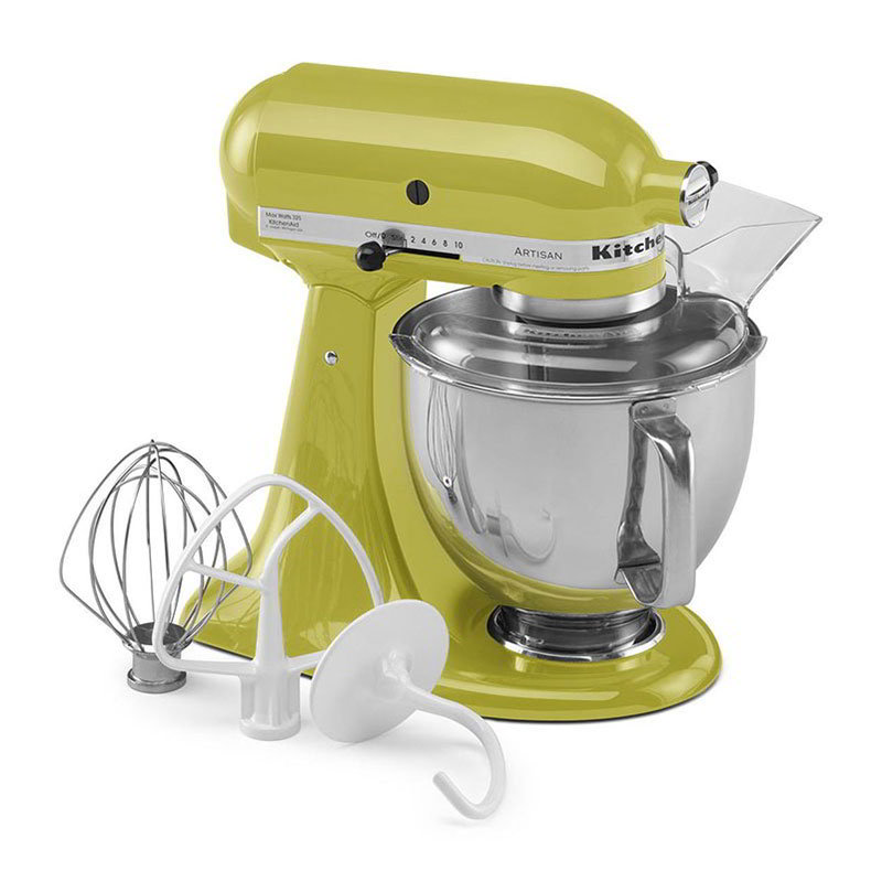 KitchenAid KSM150PSPE Artisan Series 5-Quart Mixer, 10 Speed, Pear