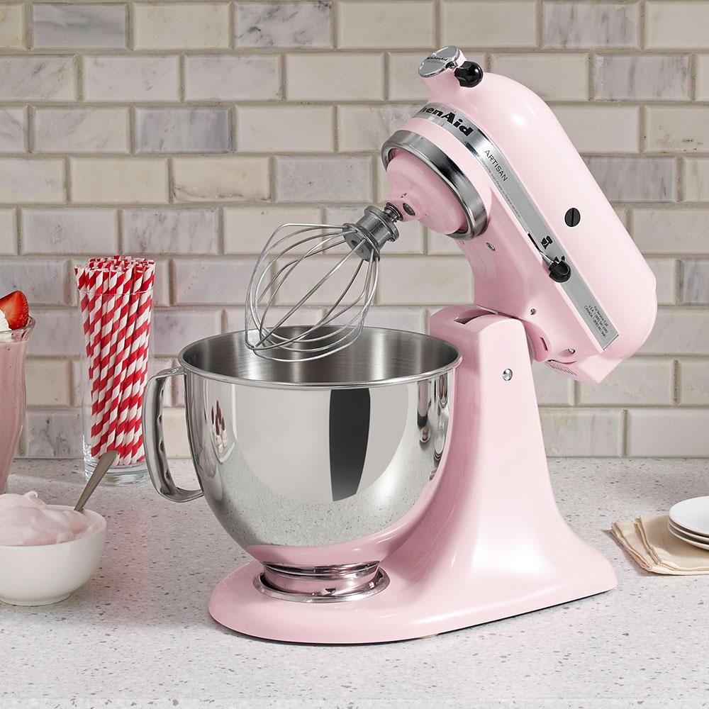 KitchenAid KSM150PSPK 10-Speed Stand Mixer w/ 5-qt Stainless Bowl & Accessories, Komen Pink