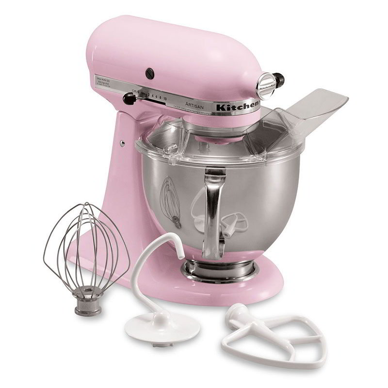 KitchenAid KSM150PSPK 10-Speed Stand Mixer w/ 5-qt Stainless Bowl & Accessories, Komen Pink