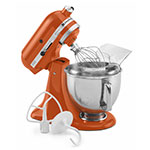 KitchenAid KSM150PSPN 5-qt Artisan Series Mixer w/ Attachments, Persimmon