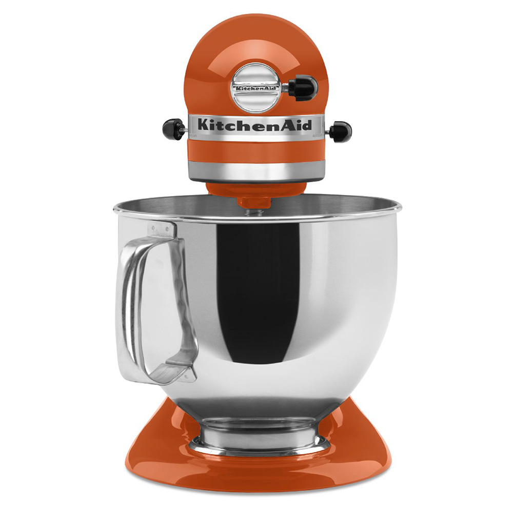 KitchenAid KSM150PSPN 10-Speed Stand Mixer w/ 5-qt Stainless Bowl & Accessories, Persimmon