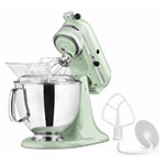 KitchenAid KSM150PSPT 10-Speed Stand Mixer w/ 5-qt Stainless Bowl & Accessories, Pistachio