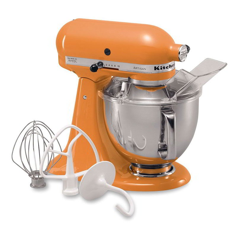 KitchenAid KSM150PSTG 10-Speed Stand Mixer w/ 5-qt Stainless Bowl & Accessories, Tangerine