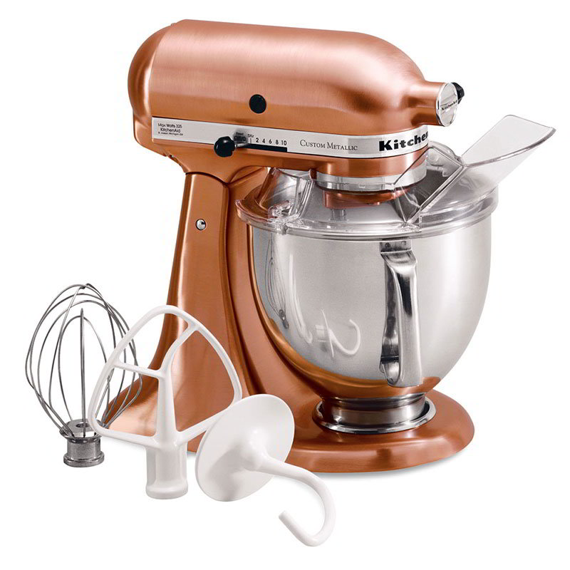 KitchenAid KSM152PSCP 10-Speed Stand Mixer w/ 5-qt Stainless Bowl & Accessories, Satin Copper