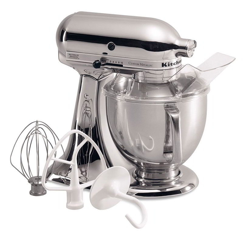 KitchenAid KSM152PSCR 10-Speed Stand Mixer w/ 5-qt Stainless Bowl & Accessories, Chrome