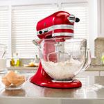 KitchenAid KSM155GBCA 10-Speed Stand Mixer w/ 5-qt Glass Bowl & Accessories, Candy Apple Red