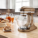 KitchenAid KSM155GBQC 10-Speed Stand Mixer w/ 5-qt Glass Bowl & Accessories, Antique Copper