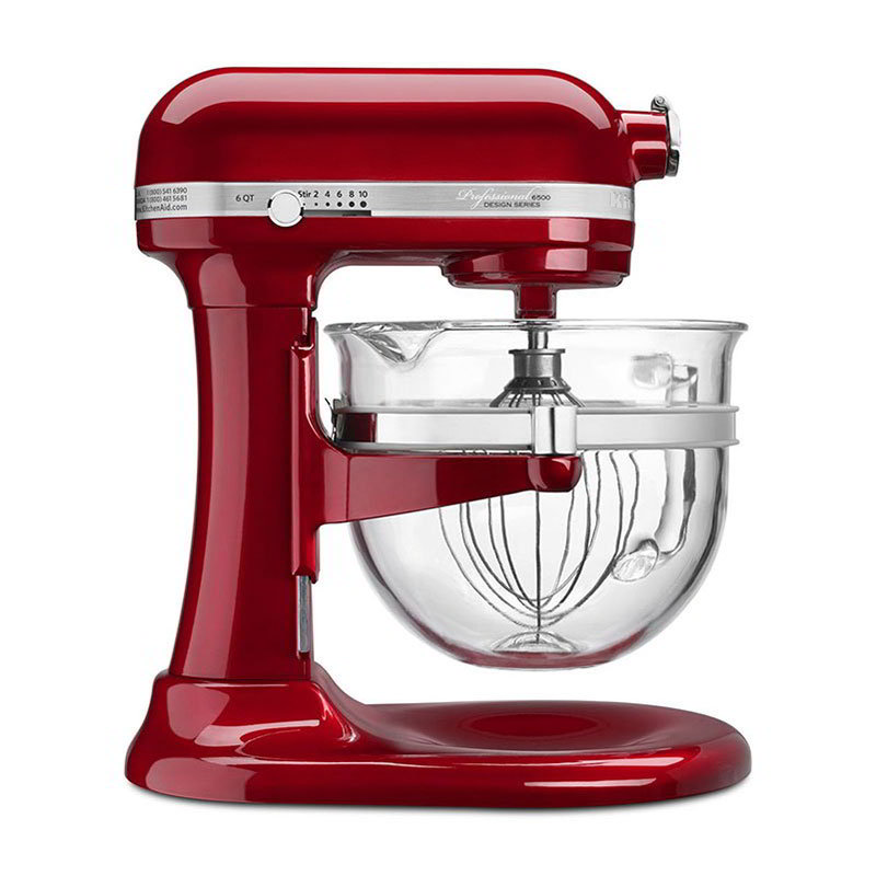 KitchenAid KSM6521XCA 6-qt Stand Mixer - 10-Speed, Candy Apple Red