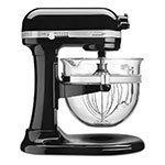 KitchenAid KSM6521XOB 10-Speed Stand Mixer w/ 6-qt Glass Bowl & Accessories, Onyx Black