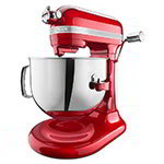 KitchenAid KSM7586PCA 10-Speed Stand Mixer w/ 7-qt Stainless Bowl & Accessories, Candy Apple Red