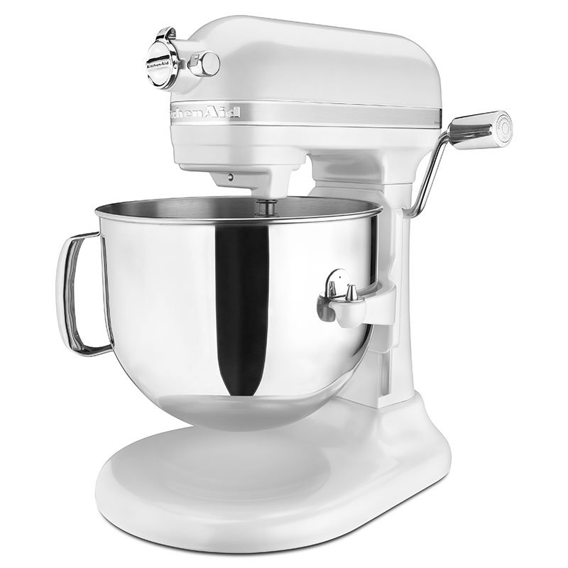 KitchenAid KSM7586PFP 10-Speed Stand Mixer w/ 7-qt Stainless Bowl & Accessories, Frosted Pearl White