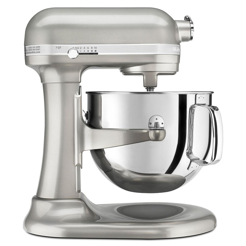 KitchenAid KSM7586PSR 10-Speed Stand Mixer w/ 7-qt Stainless Bowl & Accessories, Sugar Pearl Silver