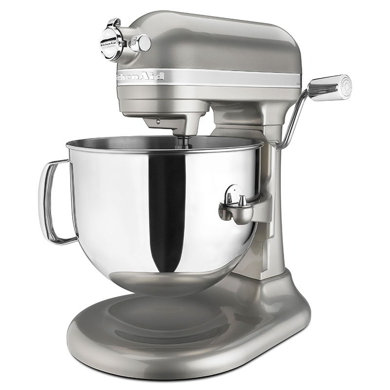 KitchenAid KSM7586PSR 10-Speed Stand Mixer w/ 7-qt Stainless Bowl & Accessories, Sugar Pearl Silver