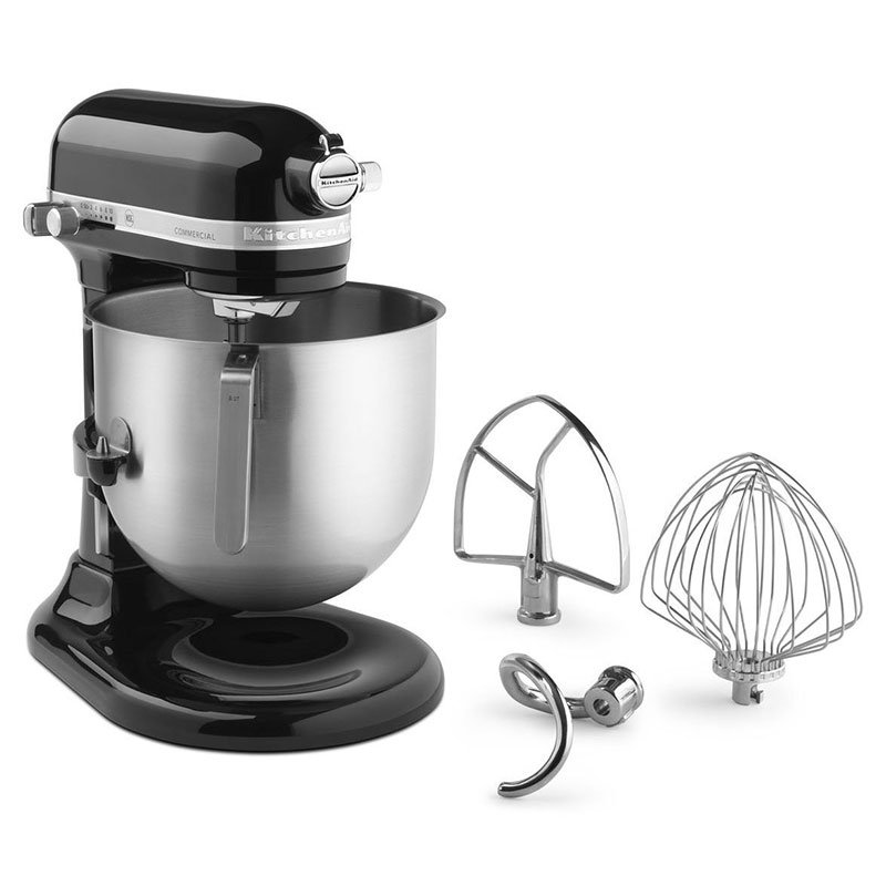 KitchenAid KSM8990OB 10-Speed Stand Mixer w/ 8-qt Stainless Bowl & Accessories, Onyx Black