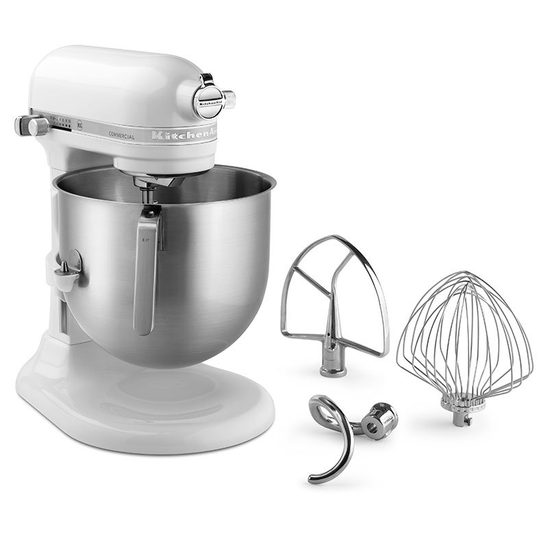 White Kitchenaid kitchenaid ksm8990wh 10-speed stand mixer w/ 8-qt stainless bowl