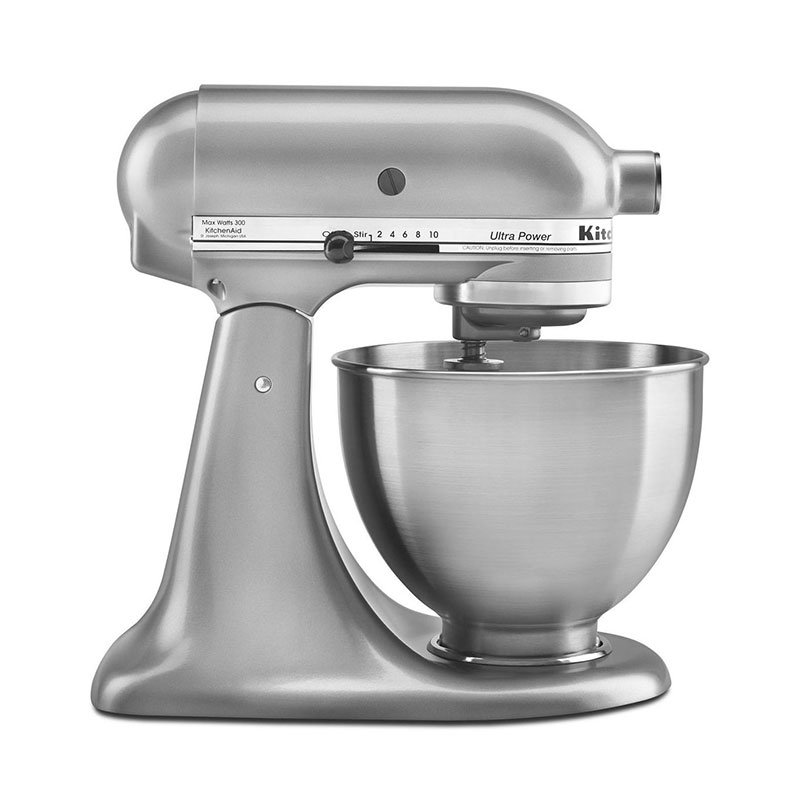 KitchenAid KSM95CU Ultra Power Series Mixer w/ 4.5-qt Stainless Bowl, Contour Silver
