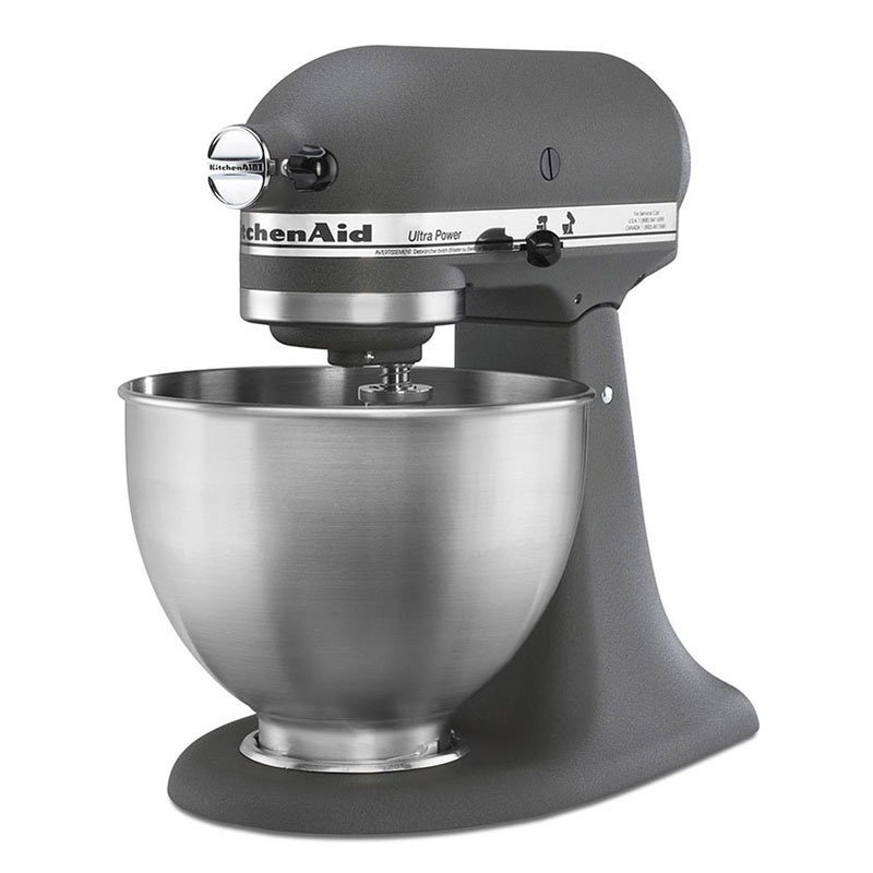KitchenAid KSM95GR 10-Speed Stand Mixer w/ 4.5-qt Stainless Bowl & Accessories, Gray