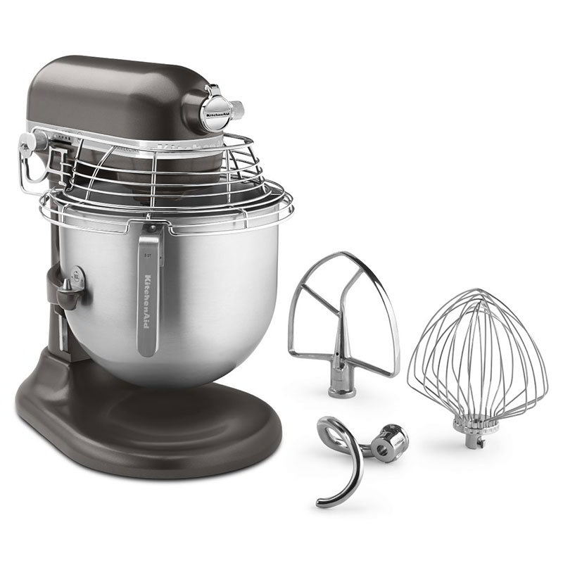 KitchenAid KSMC895DP 10-Speed Bowl-Lift Stand Mixer w/ 8-qt Stainless Bowl & Accessories, Dark Pewter