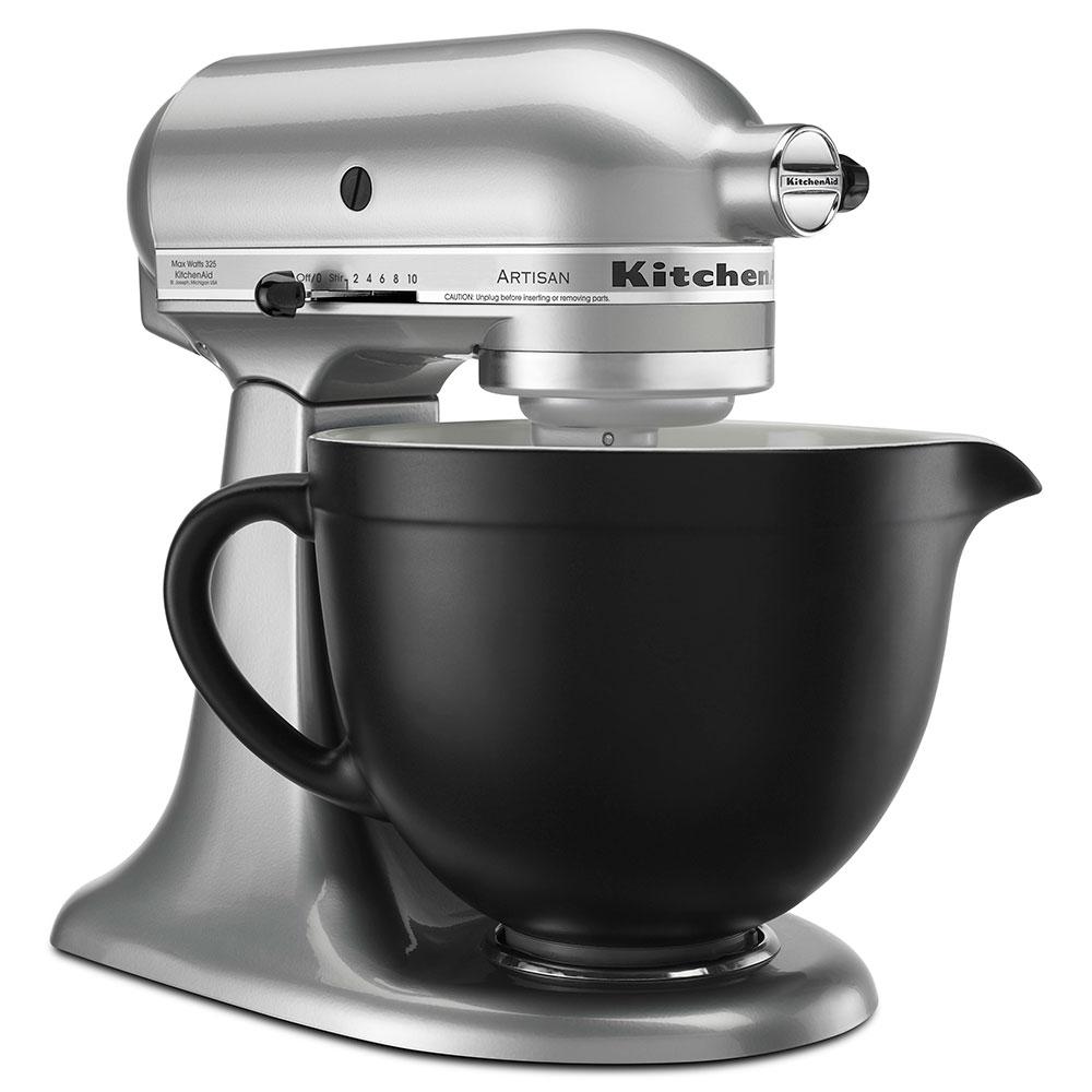 KitchenAid KSMCB5BM Ceramic Mixing Bowl for 5-qt KitchenAid Stand Mixers, Black Matte