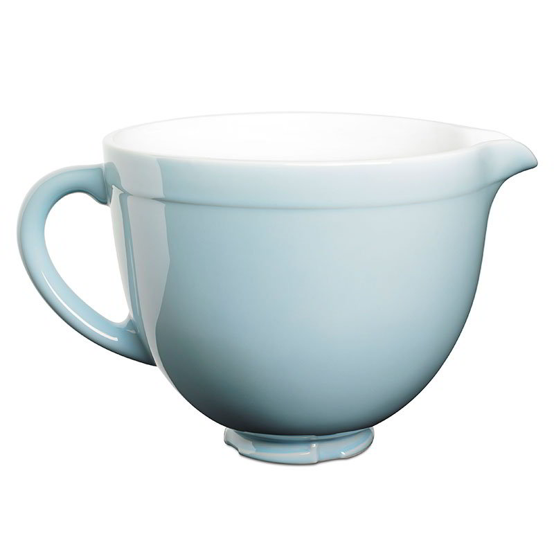 KitchenAid KSMCB5GB Ceramic Mixing Bowl for 5-qt KitchenAid Stand Mixers, Glacier Blue