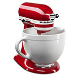 KitchenAid KSMCB5LW Ceramic Mixing Bowl for 5-qt KitchenAid Stand Mixers, White Chocolate