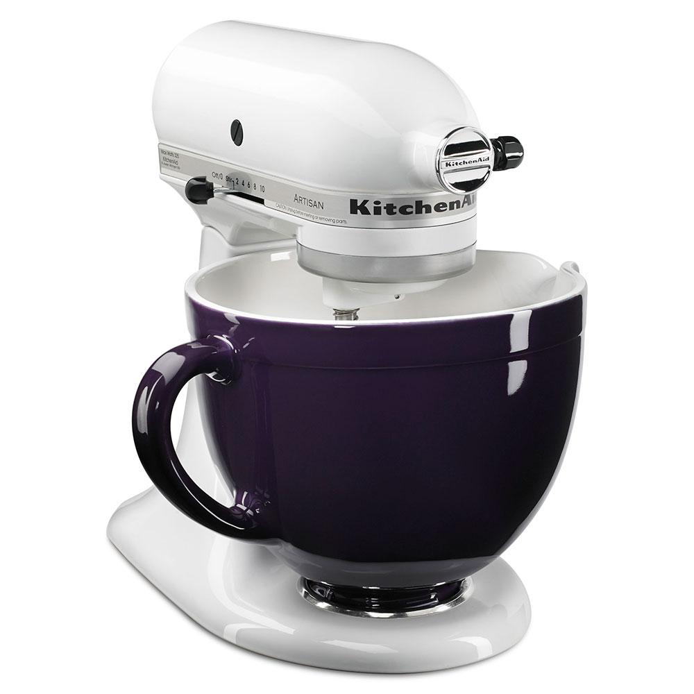 KitchenAid KSMCB5RP Ceramic Mixing Bowl for 5-qt KitchenAid Stand Mixers, Royal Purple
