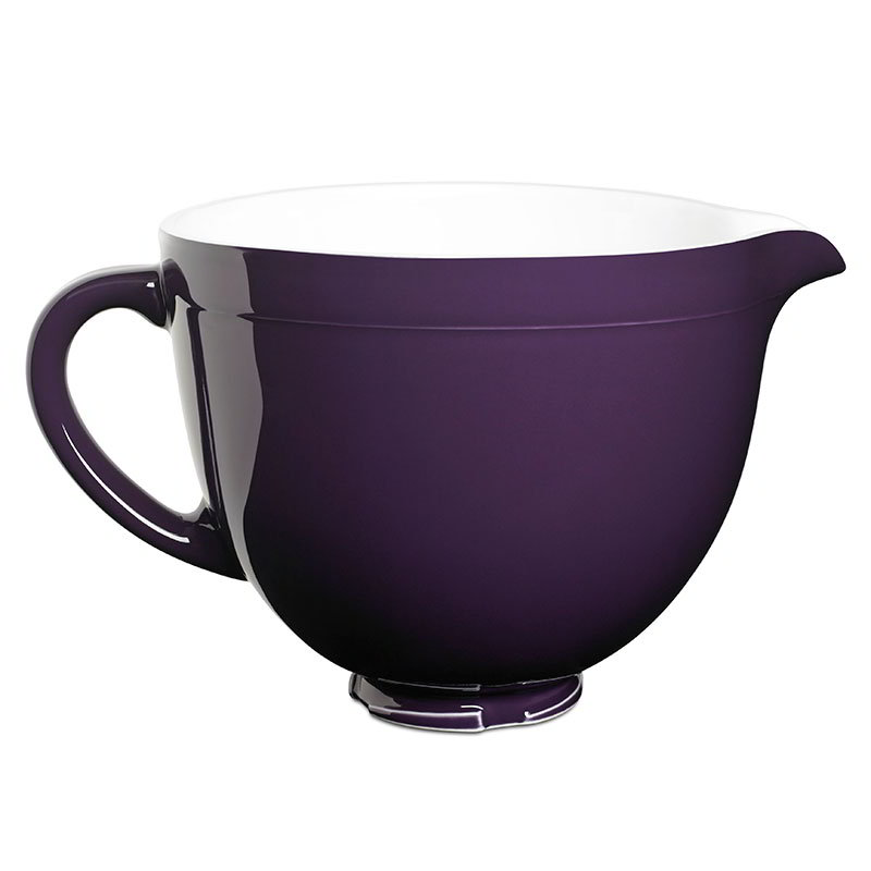 KitchenAid KSMCB5RP Ceramic Mixing Bowl for 5-qt KitchenAid Stand Mixers, Royal Purple