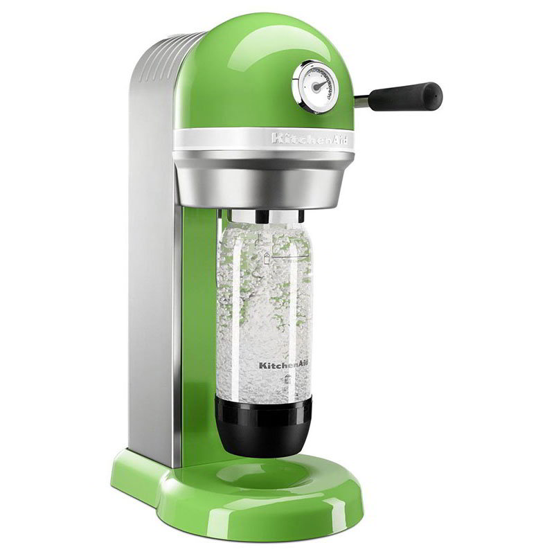 KitchenAid KSS1121GA Sparkling Beverage Maker powered by SodaStream® w/ Starter Pack, Green Apple